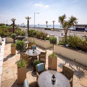 ballroom patio view of roslin beach hotel venue